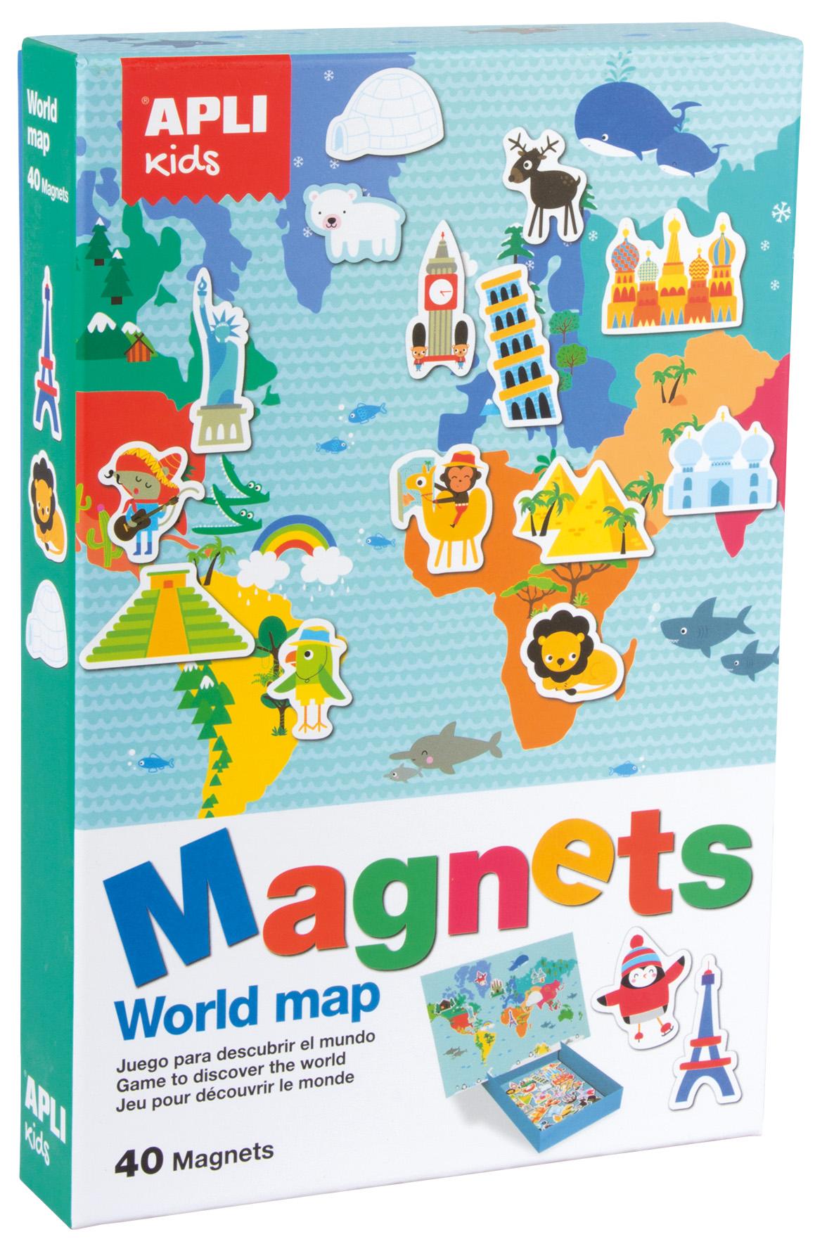 Карта на света - образователна игра с магнити от Apli Kids - образователни играчки(2)-bellamiestore