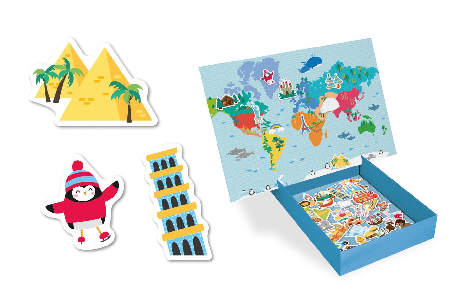 Карта на света - образователна игра с магнити от Apli Kids - образователни играчки(1)-bellamiestore