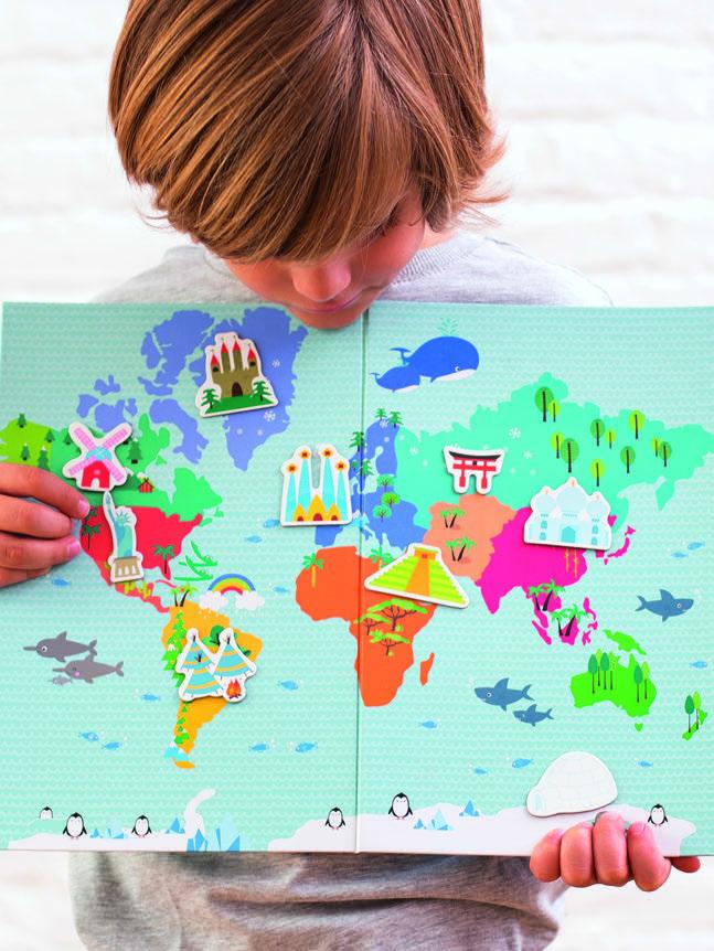 Карта на света - образователна игра с магнити от Apli Kids - образователни играчки-bellamiestore