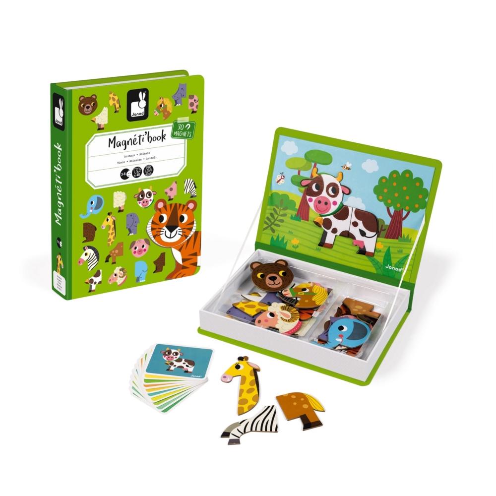 магнитна образователна игра- Животните от Janod- образователни играчки-bellamiestore