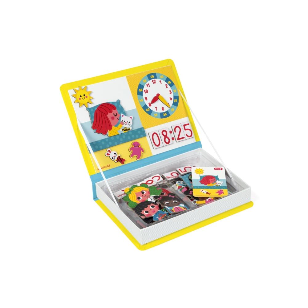 Магнитна образователна игра- Да научим часовника - образователни играчки от Janod(4)-bellamiestore