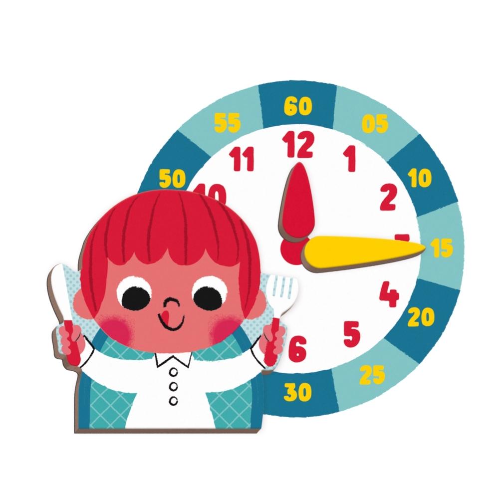 Магнитна образователна игра- Да научим часовника - образователни играчки от Janod(3)-bellamiestore