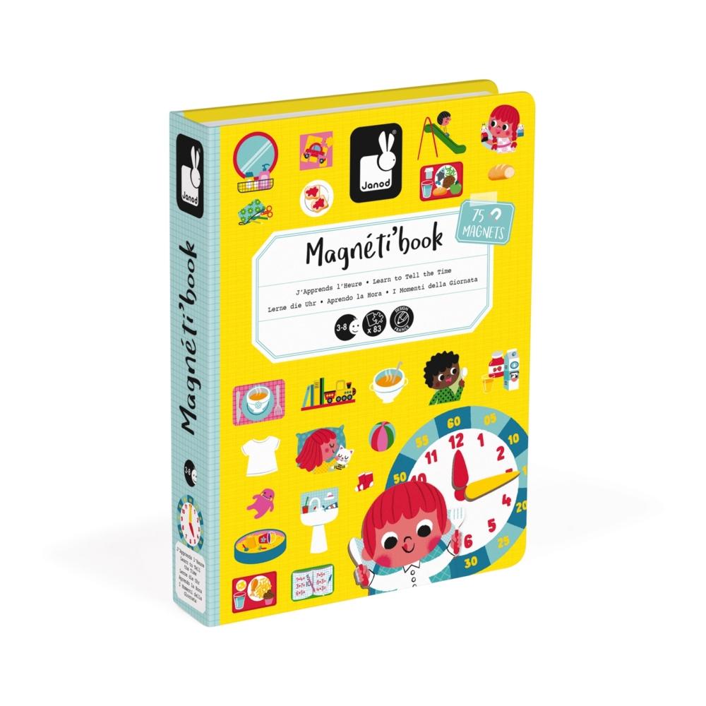 Магнитна образователна игра- Да научим часовника - образователни играчки от Janod(2)-bellamiestore