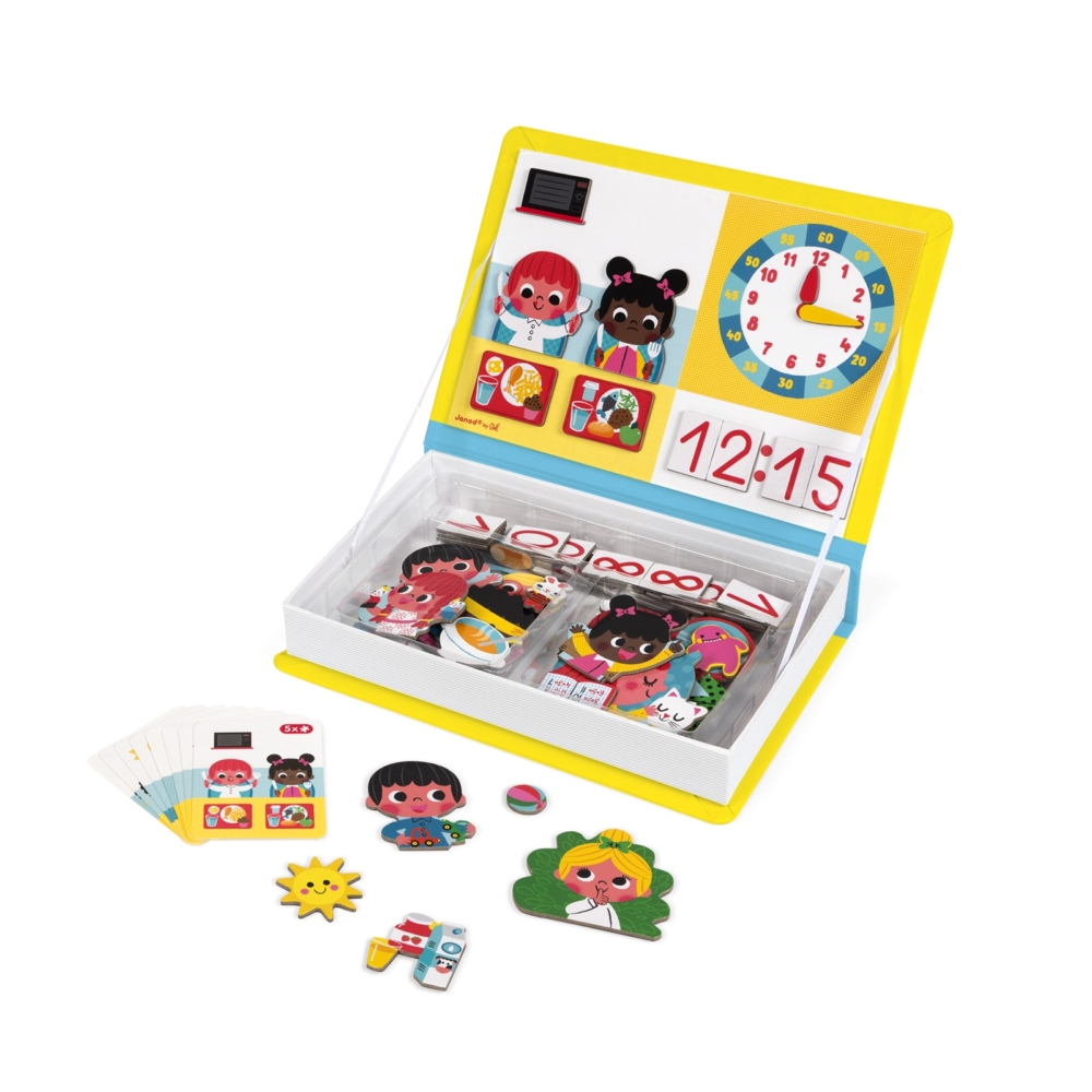 Магнитна образователна игра- Да научим часовника - образователни играчки от Janod(1)-bellamiestore