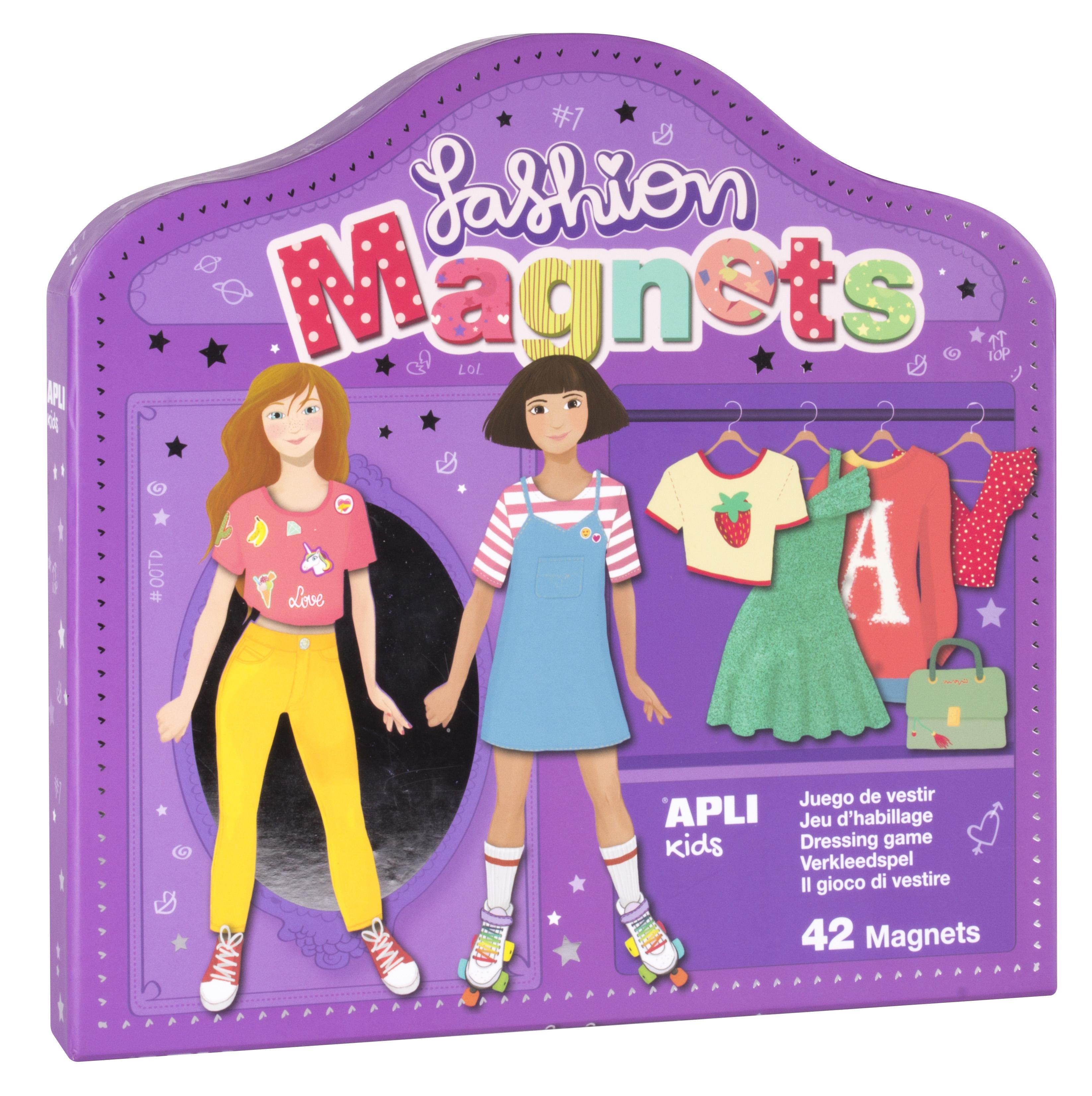 Облечи Клара и Луси - магнитна игра за преобличане - детски играчки за момичета от Apli Kids(1)-bellamiestore