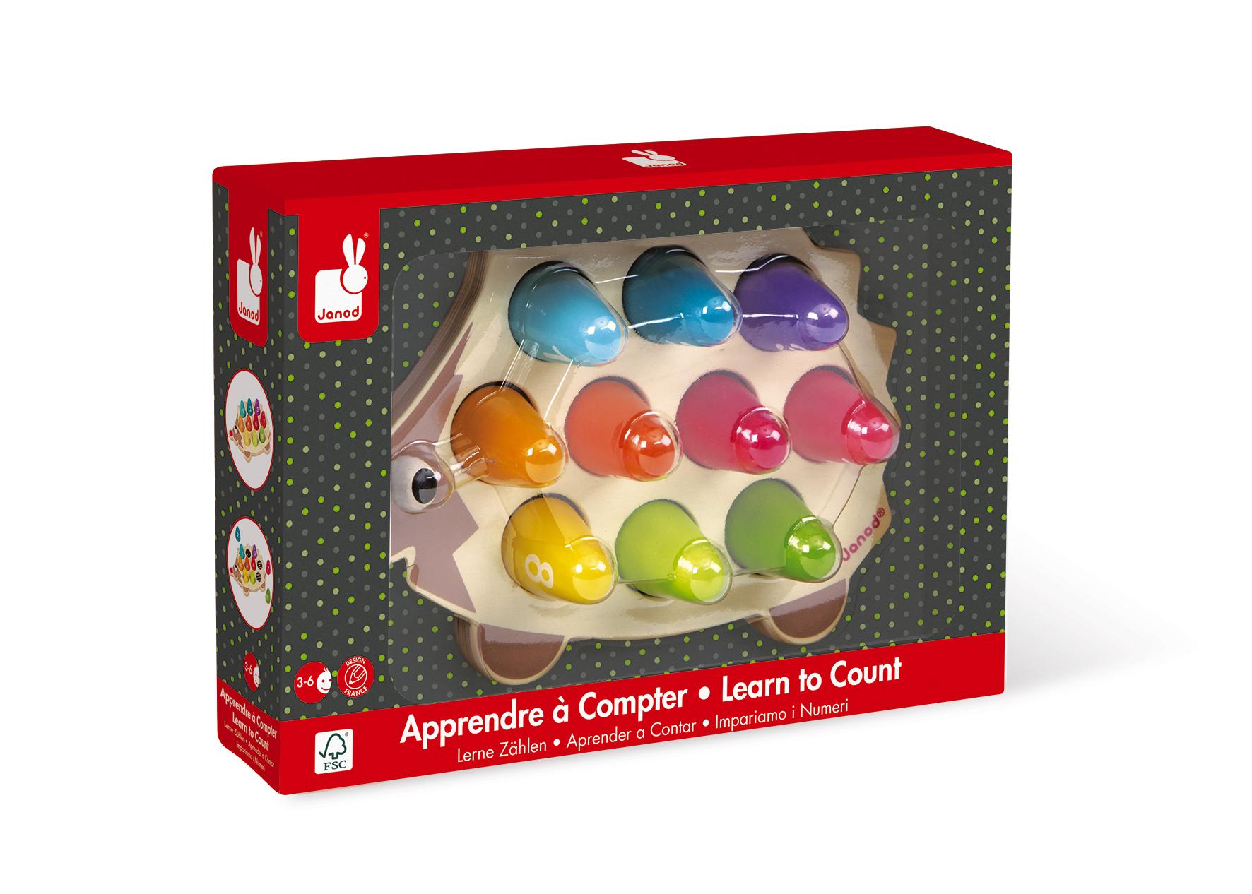 Образователна играчка Аз се уча да броя с Таралеж- дървени играчки от Janod (3)-bellamiestore