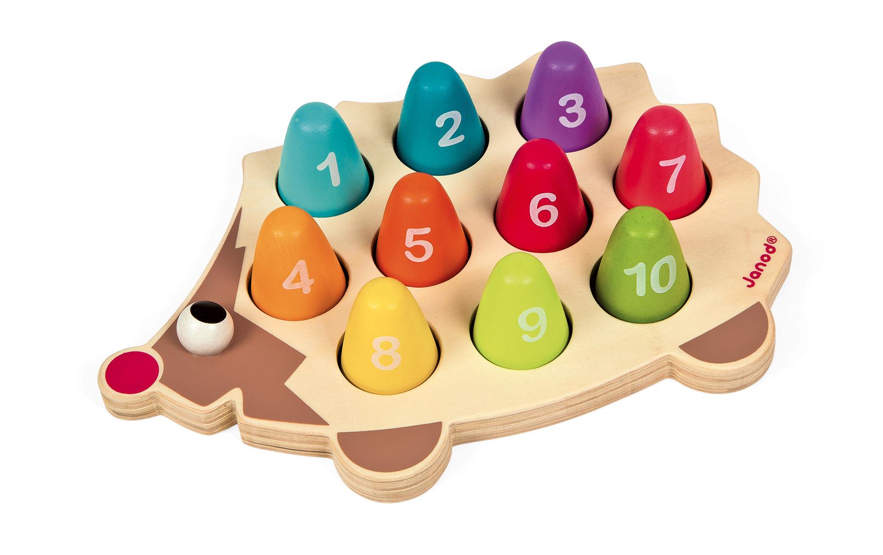 Образователна играчка Аз се уча да броя с Таралеж- дървени играчки от Janod (2)-bellamiestore