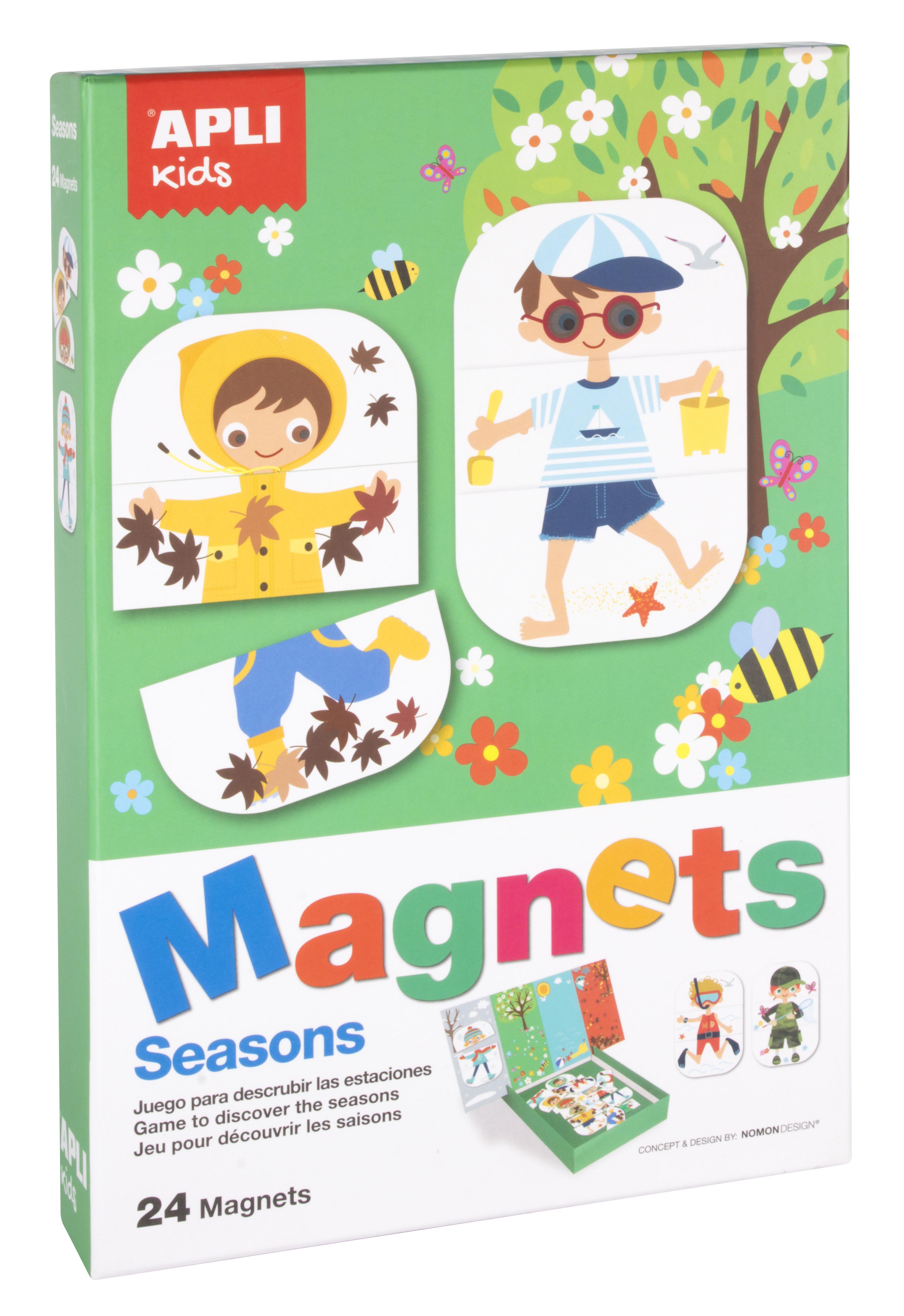 Образователни играчки от Apli kids- магнитна дъска Годишните времена-Bellamie