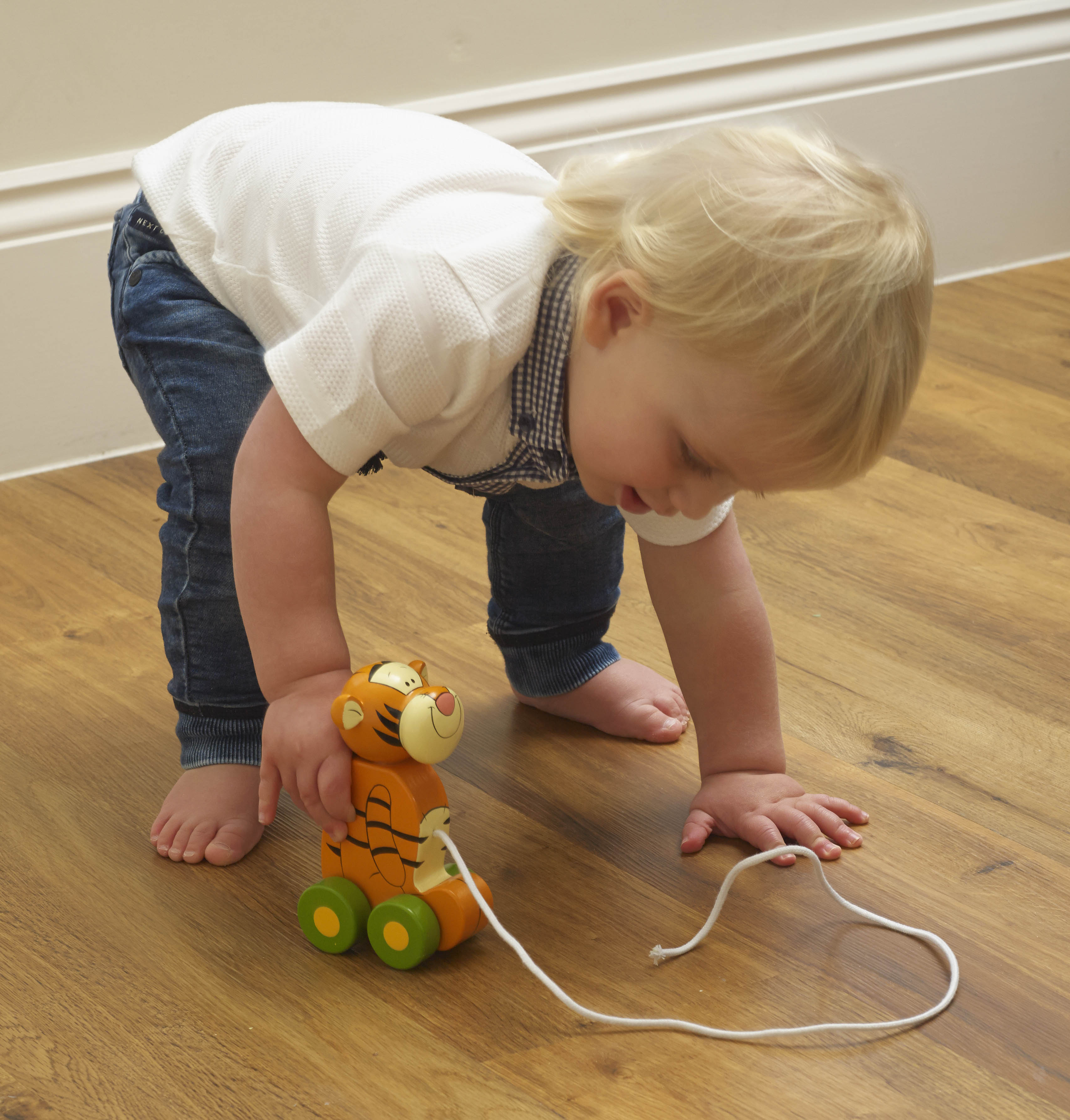 Играчка за дърпане - Тигър от Orange Tree Toys - дървена играчка - Bellamie