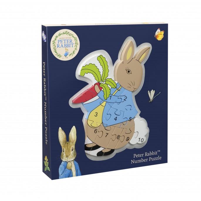 Дървен образователен пъзел с числа - Зайчето Питър от Orange Tree Toys - Бебешки играчки - Bellamie