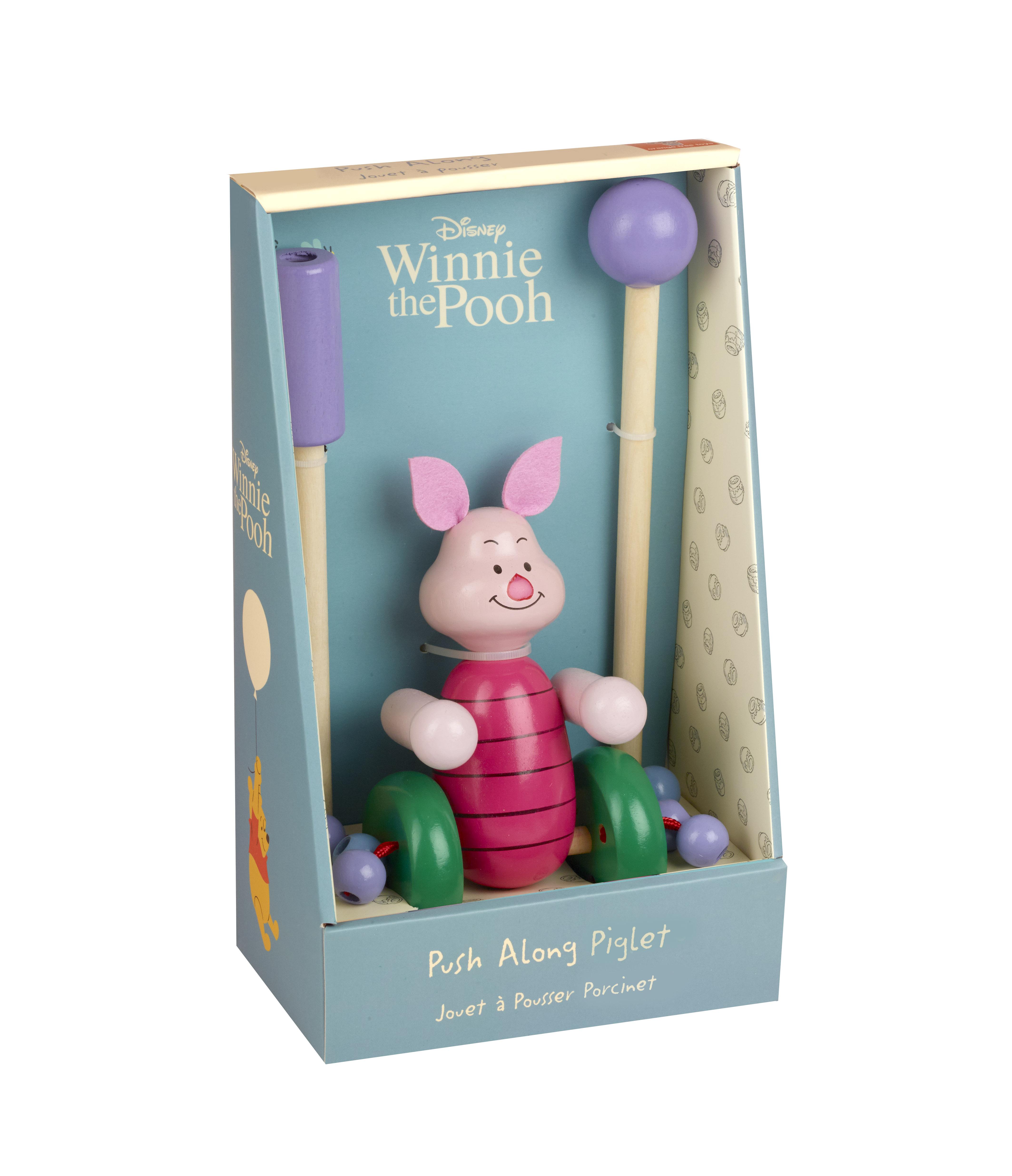 Дървена играчка за бутане - Прасчо Disney от Orange Tree Toys - дървена играчка - Bellamie