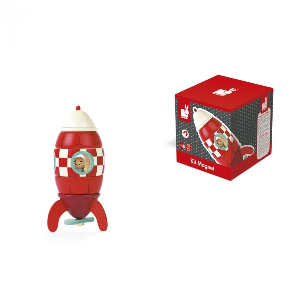Детска дървена играчка Ракета- детски играчки за момчета от Janod(5)-bellamiestore
