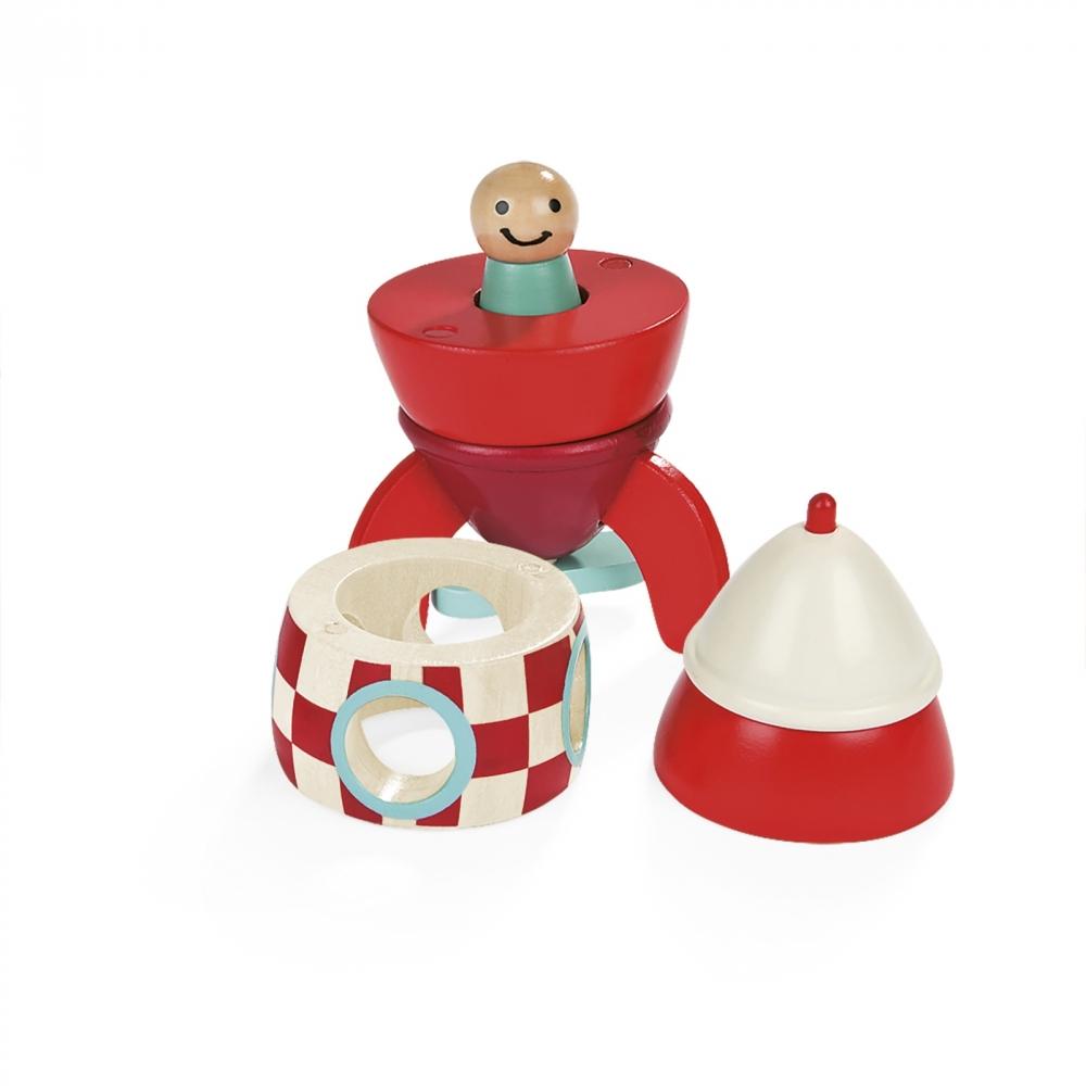 Детска дървена играчка Ракета- детски играчки за момчета от Janod(4)-bellamiestore