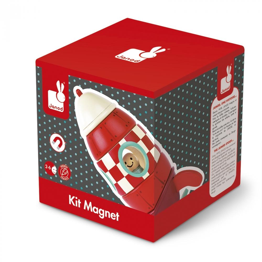 Детска дървена играчка Ракета- детски играчки за момчета от Janod(2)-bellamiestore
