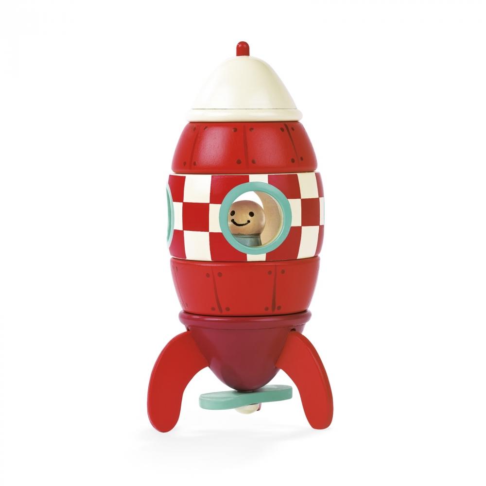 Детска дървена играчка Ракета- детски играчки за момчета от Janod(3)-bellamiestore
