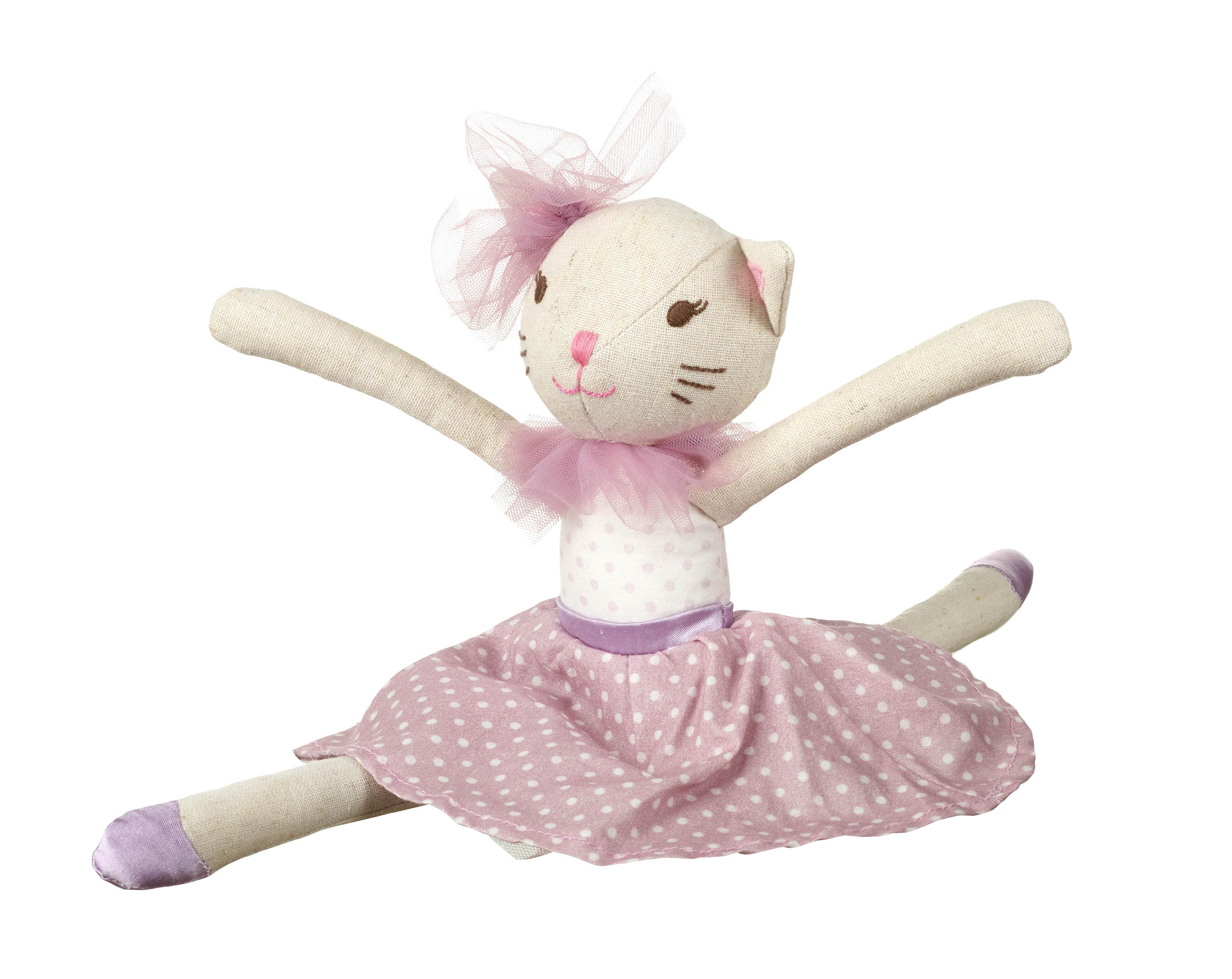 Детска мека кукла - коте 32 см от Orange Tree Toys -детска играчки за момичета - Bellamie