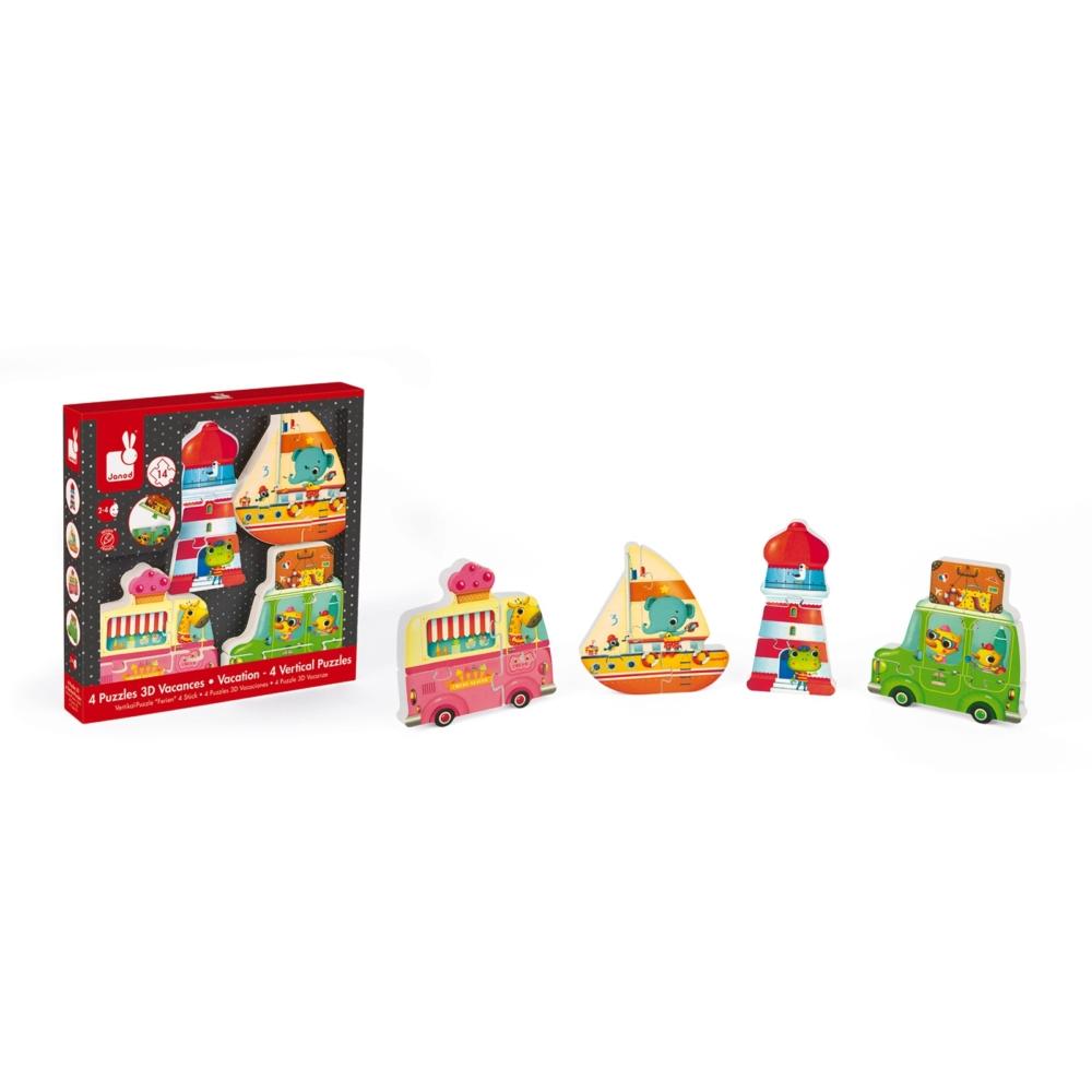 Детски дървен пъзел - Ваканция 3D- дървени играчки от Janod(3)-bellamiestore