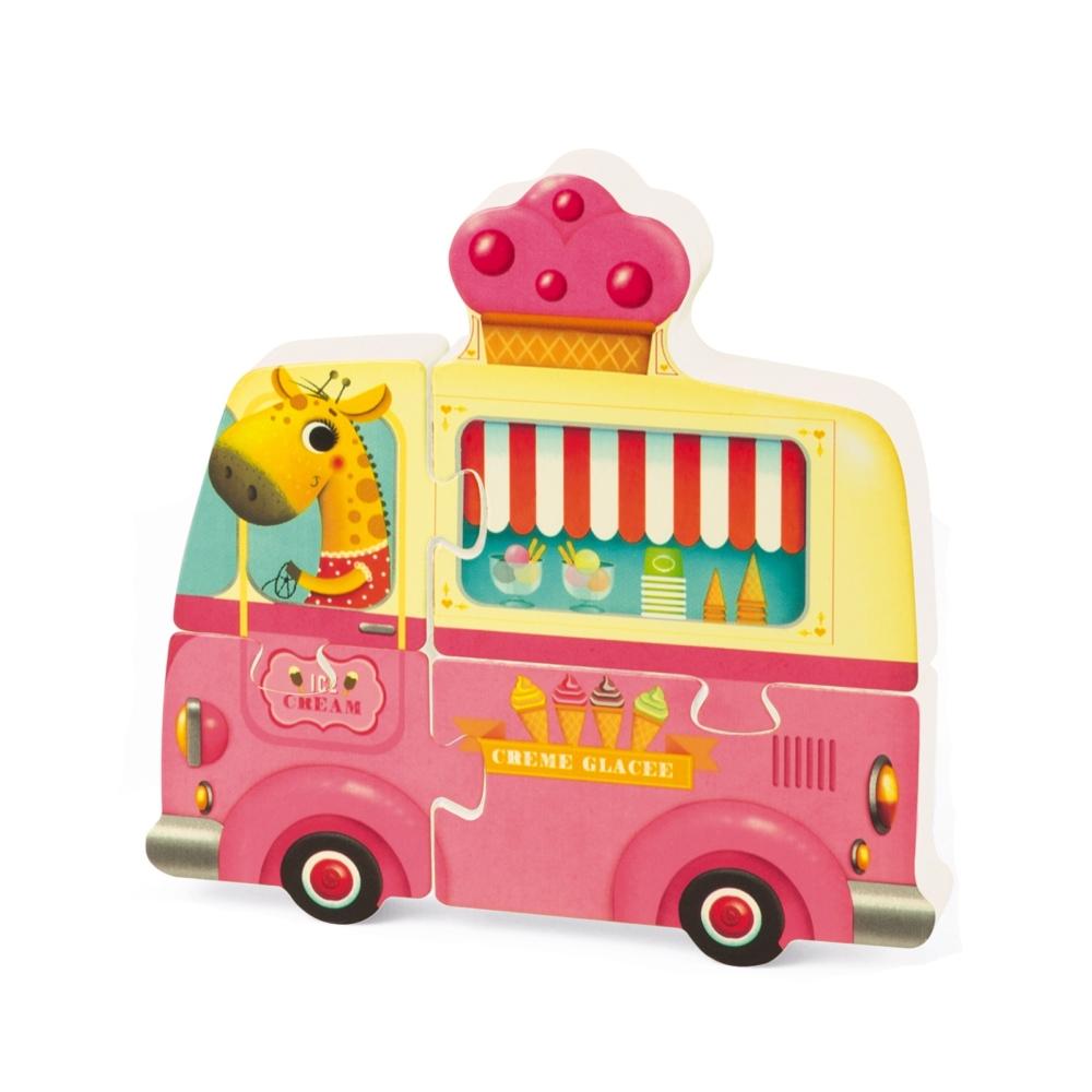 Детски дървен пъзел - Ваканция 3D- дървени играчки от Janod(1)-bellamiestore