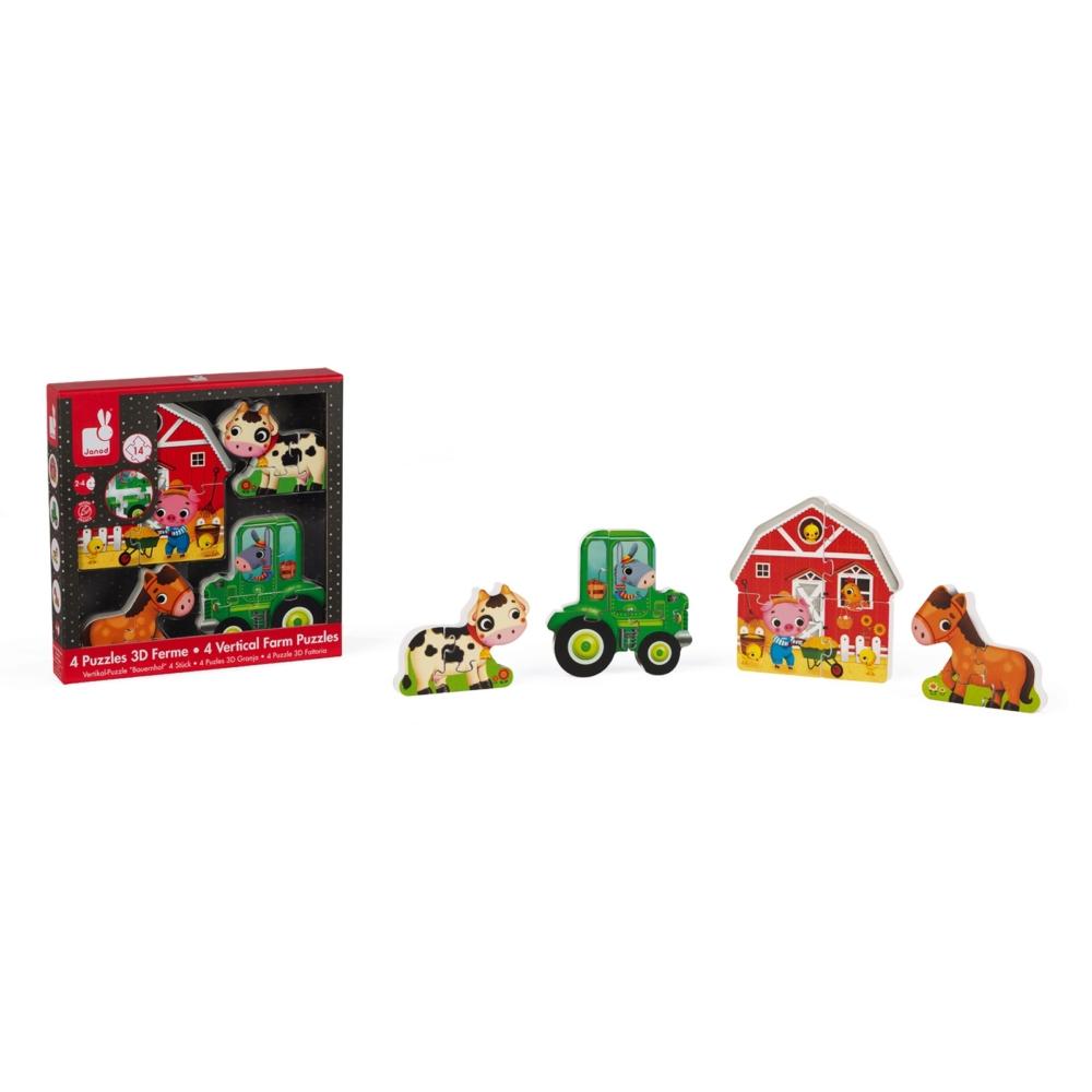 детски дървен пъзел - Фермата 3D- дървени играчки от Janod(4)-bellamiestore