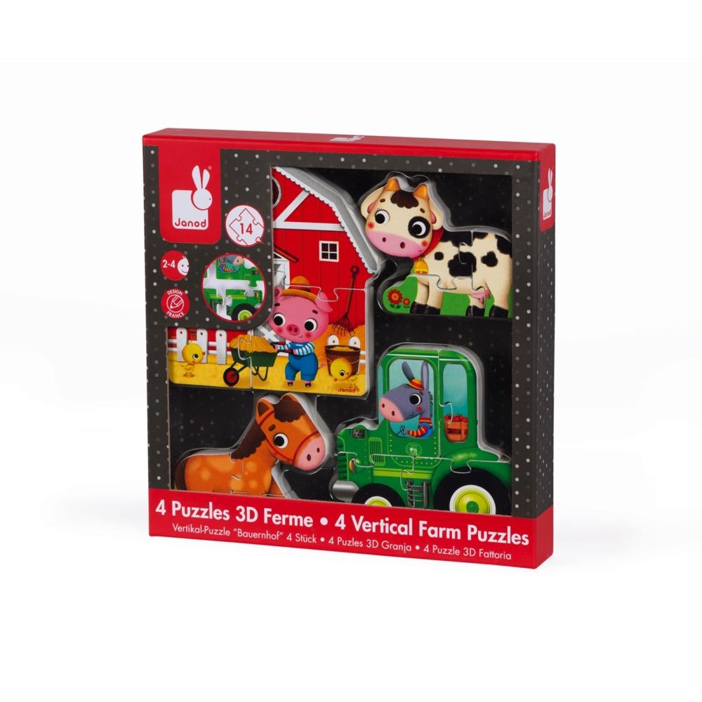 детски дървен пъзел - Фермата 3D- дървени играчки от Janod(1)-bellamiestore