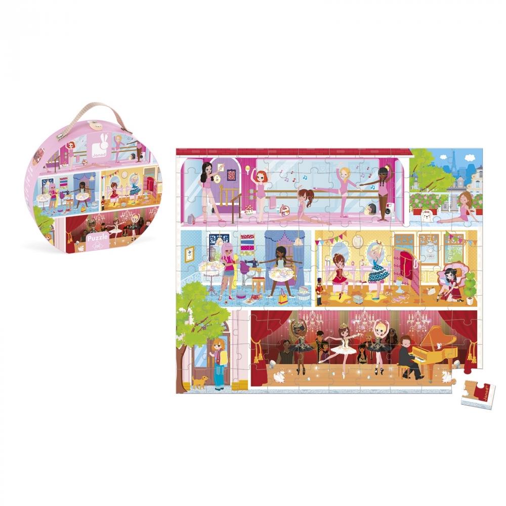 детски пъзел в куфар - Танцова академия 100 части - детски играчки за момичета от Janod-bellamiestore