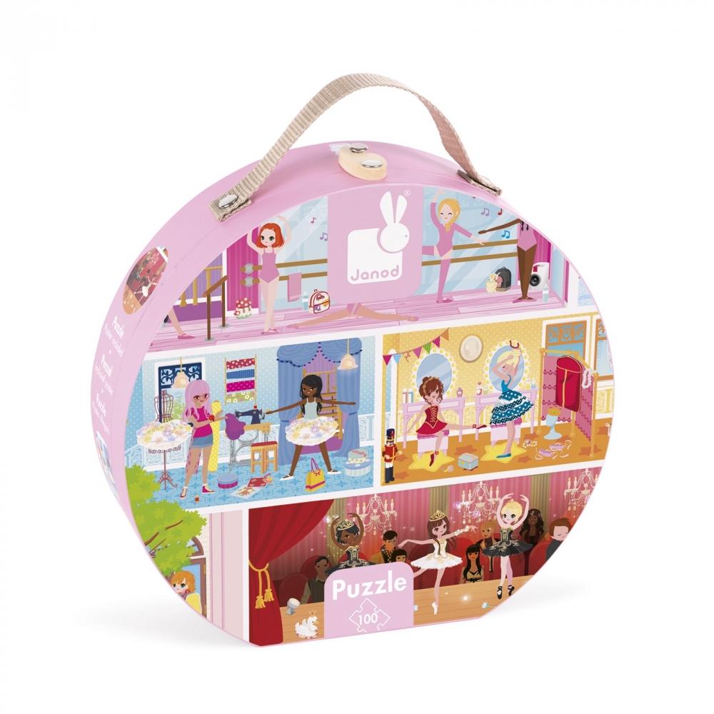 детски пъзел в куфар - Танцова академия 100 части - детски играчки за момичета от Janod(1)-bellamiestore