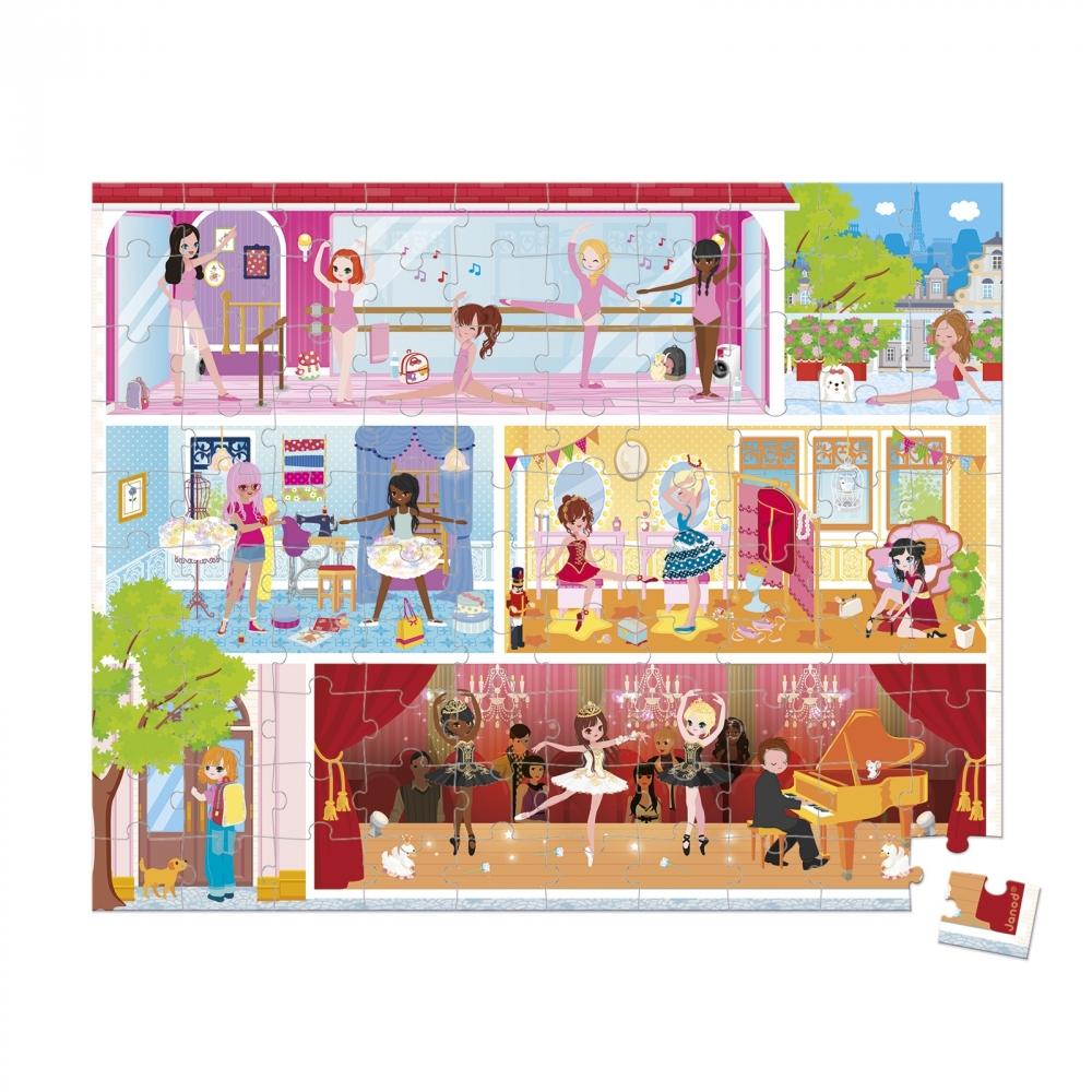 детски пъзел в куфар - Танцова академия 100 части - детски играчки за момичета от Janod(2)-bellamiestore