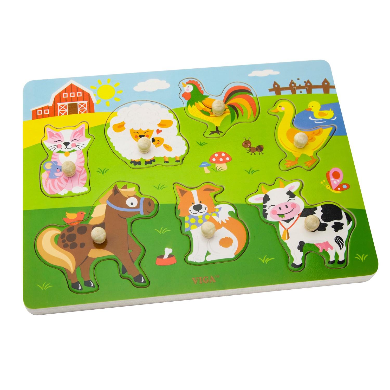 Детски музикален дървен пъзел- фермата- дървени играчки от Viga toys(2)-bellamiestore