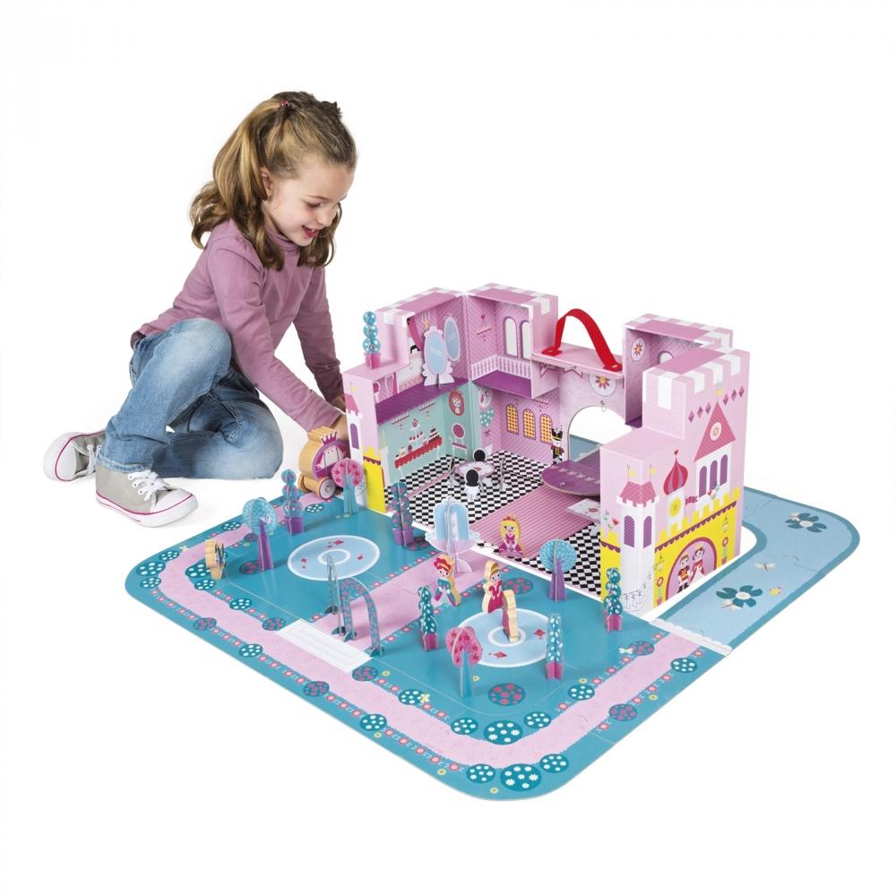 Детски пъзел и игрален комплект - Приказния замък - детски играчки за момичета и ролева игра от Janod(1)-bellamiestore