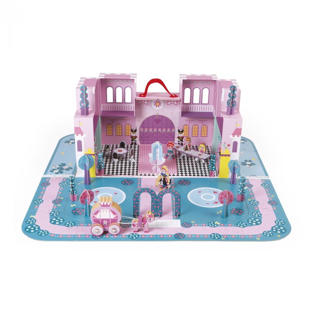 Детски пъзел и игрален комплект - Приказния замък - детски играчки за момичета и ролева игра от Janod-bellamiestore