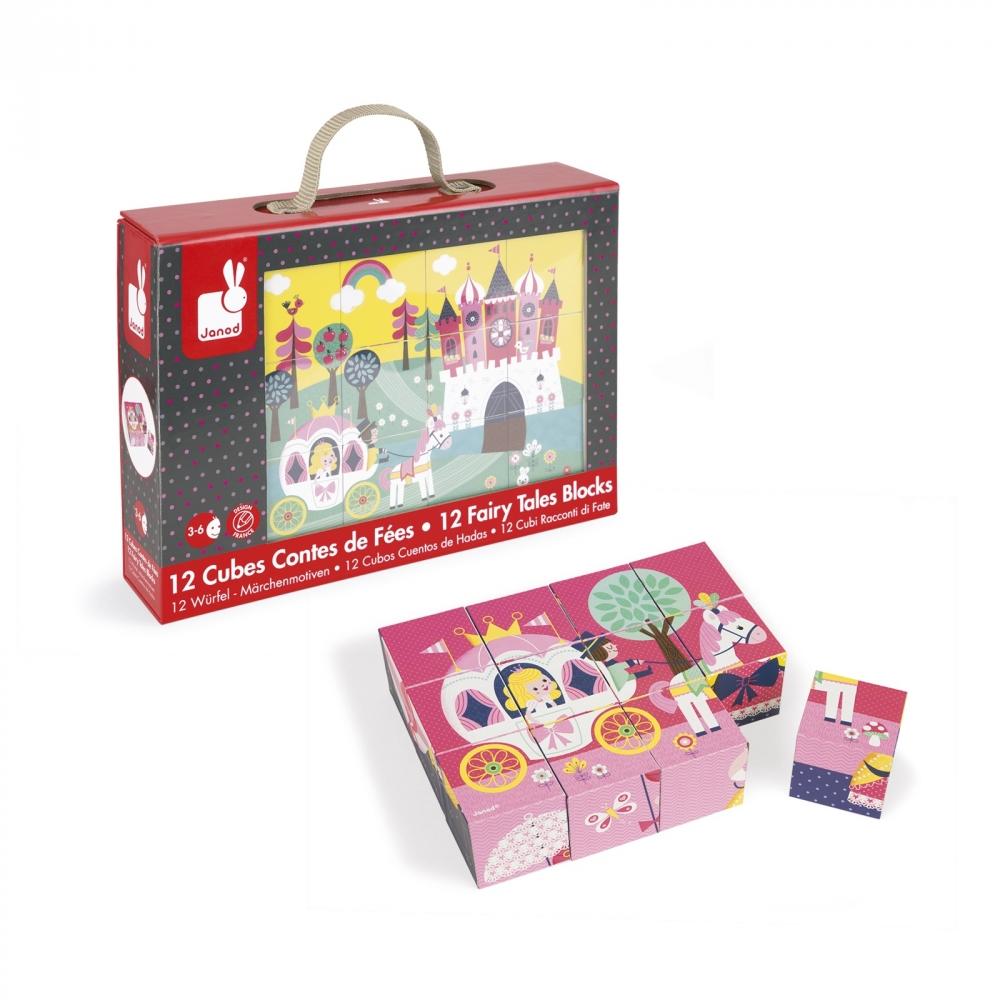 Детски пъзел от кубчета- Приказка- детски играчки за момичета от Janod