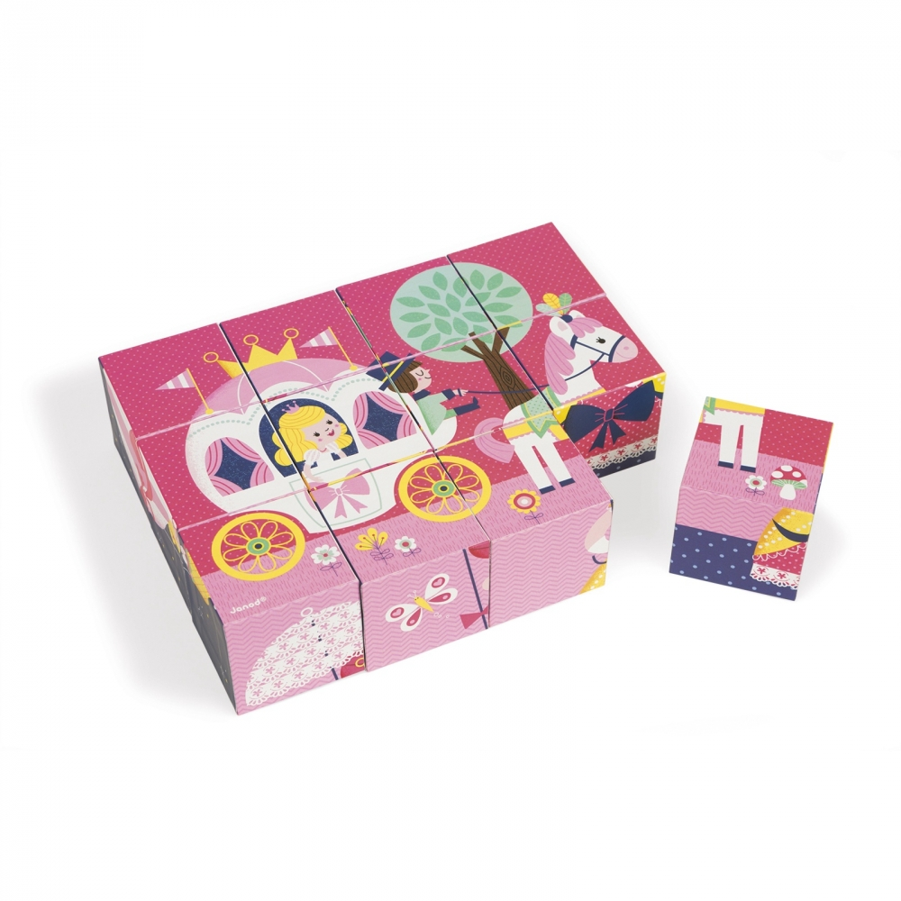 Детски пъзел от кубчета- Приказка- детски играчки за момичета от Janod(3)-bellamiestore