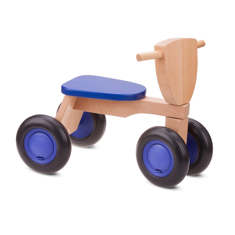 Детско дървено колело за бутане и баланс в синьо - бебешки играчки от New classic toys-bellamiestore(1)-bellamiestore