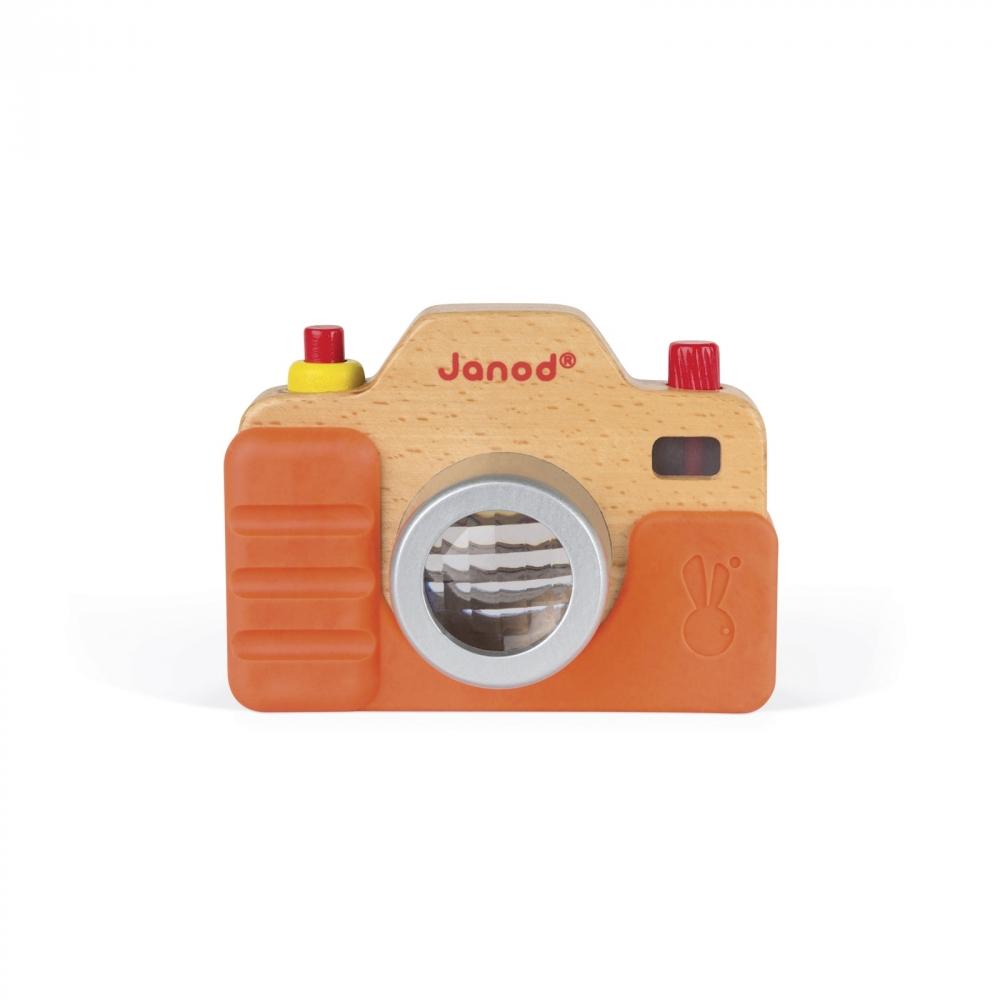 Дървена играчка Фотоапарат със светкавица- бебешки и детски играчки от Janod-bellamiestore
