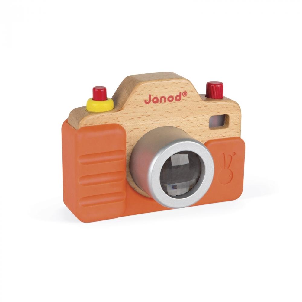 Дървена играчка Фотоапарат със светкавица- бебешки и детски играчки от Janod(1)-bellamiestore