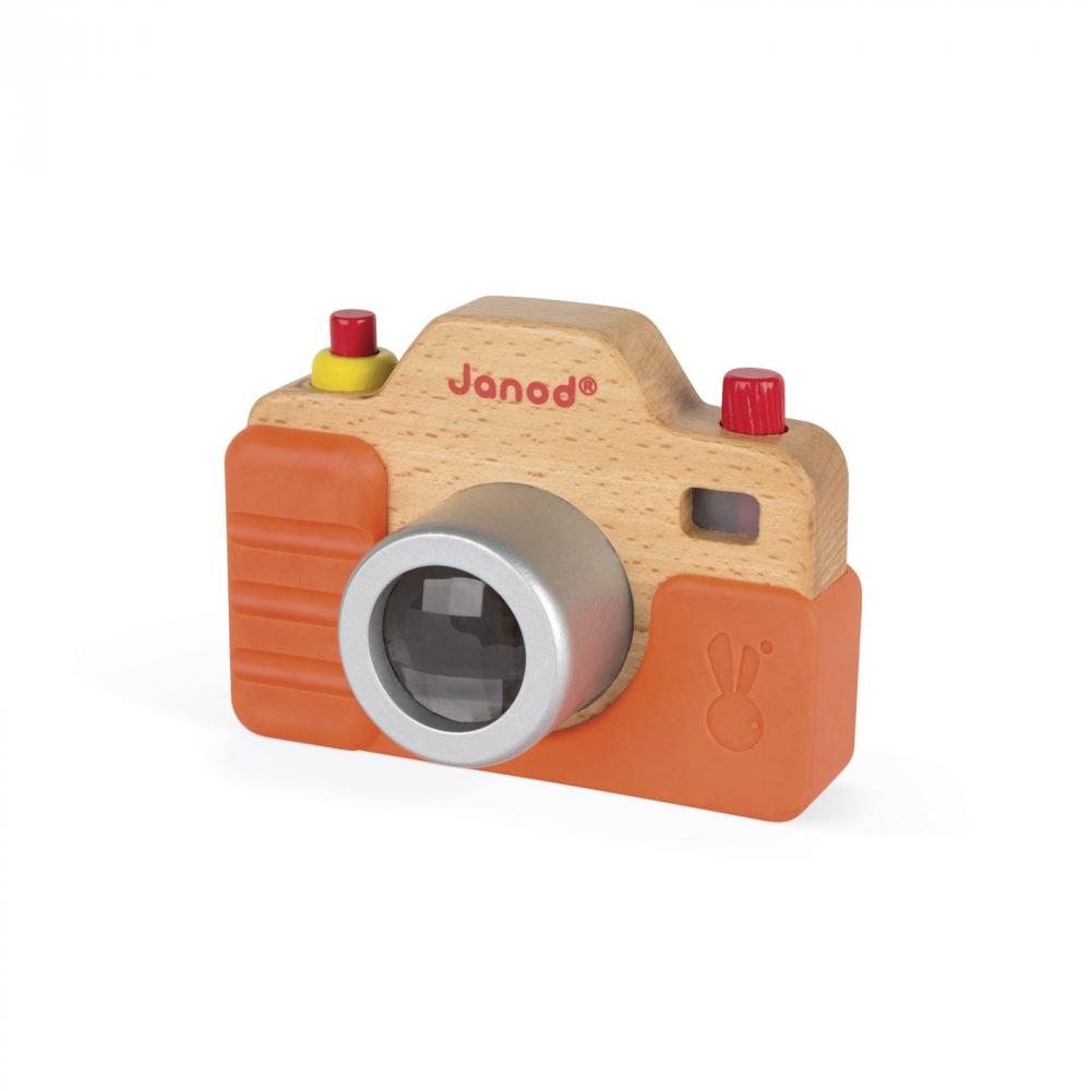 Дървена играчка Фотоапарат със светкавица- бебешки и детски играчки от Janod(4)-bellamiestore