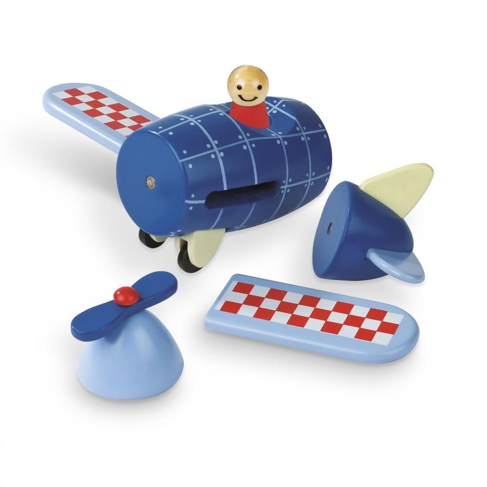 Детска дървена играчка самолет- детски играчки за момчета от Janod-bellamiestore