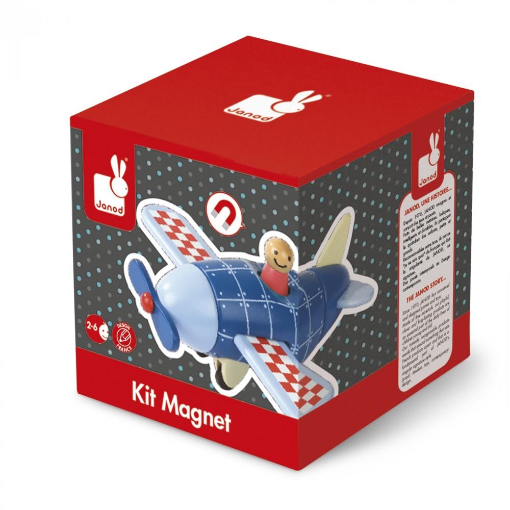 Детска дървена играчка самолет- детски играчки за момчета от Janod(1)-bellamiestore