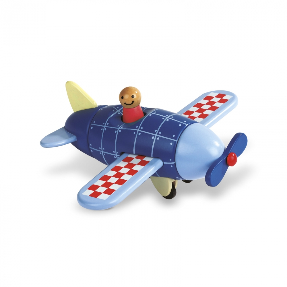 Детска дървена играчка самолет- детски играчки за момчета от Janod(2)-bellamiestore