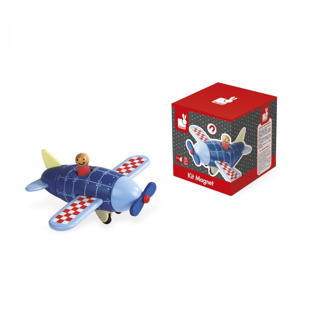 Детска дървена играчка самолет- детски играчки за момчета от Janod(3)-bellamiestore