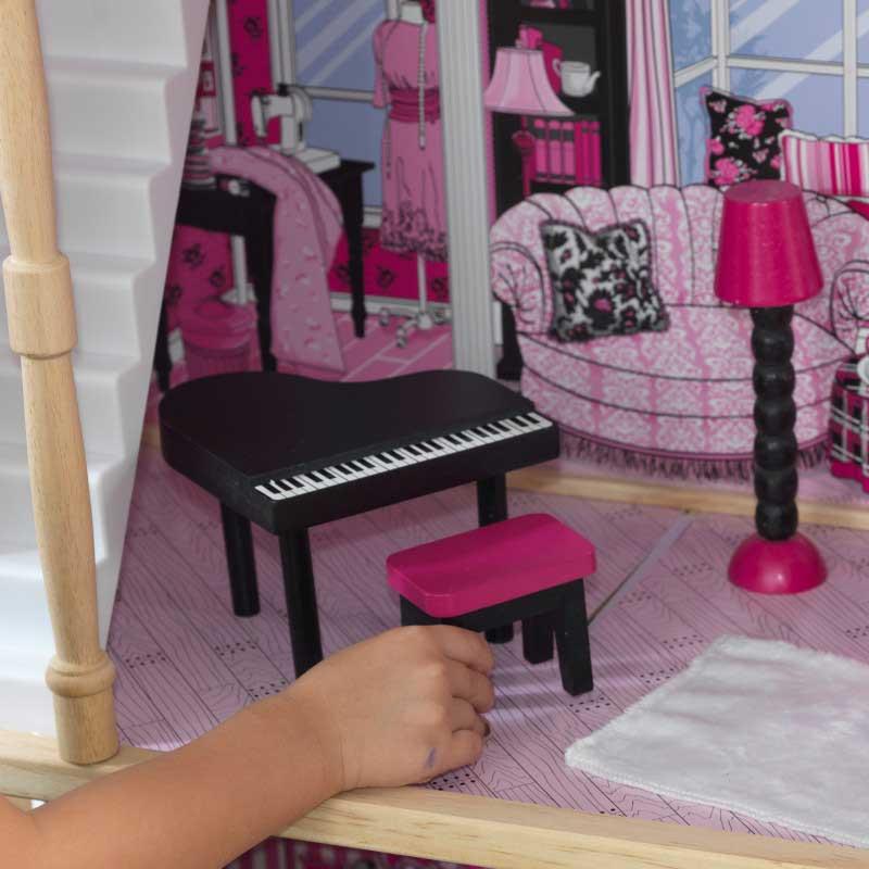 Дървена къща за кукли -Амелия от KidKraft- детски играчки за момичета -дървена играчка(7)-bellamiestore