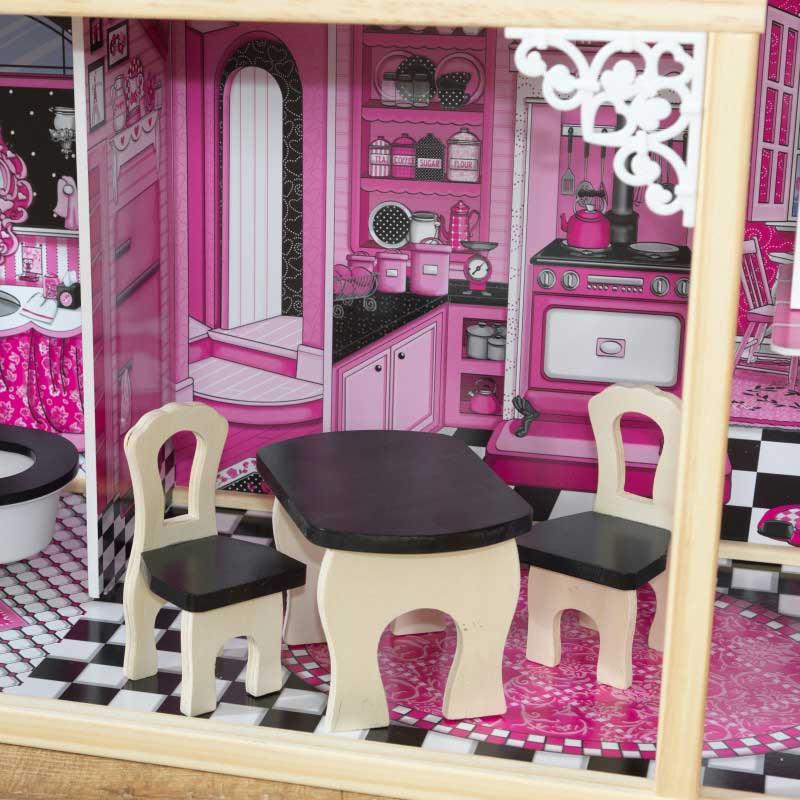 Дървена къща за кукли -Амелия от KidKraft- детски играчки за момичета -дървена играчка(6)-bellamiestore