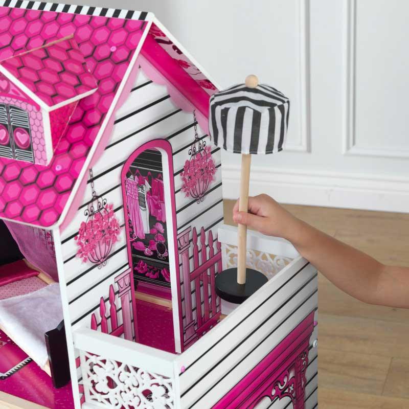 Дървена къща за кукли -Амелия от KidKraft- детски играчки за момичета -дървена играчка(5)-bellamiestore