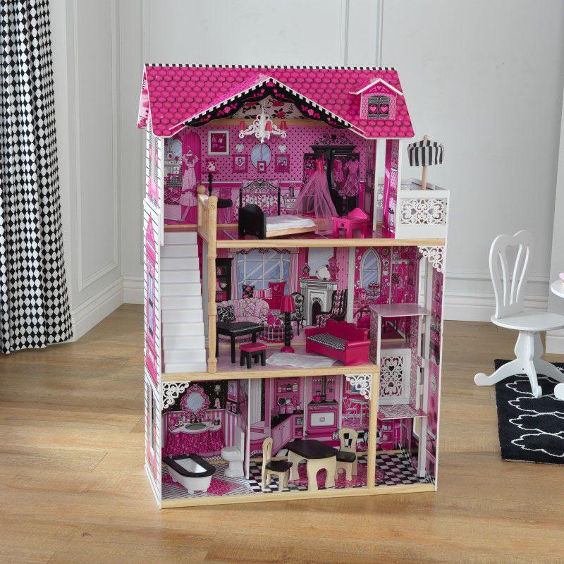 Дървена къща за кукли -Амелия от KidKraft- детски играчки за момичета -дървена играчка(3)-bellamiestore
