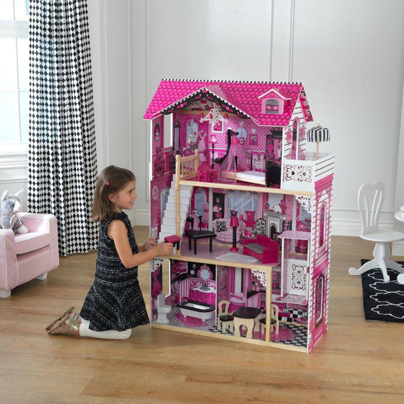 Дървена къща за кукли -Амелия от KidKraft- детски играчки за момичета -дървена играчка(2)-bellamiestore