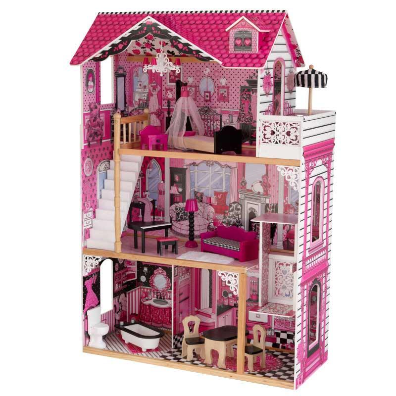 Дървена къща за кукли -Амелия от KidKraft- детски играчки за момичета -дървена играчка(1)-bellamiestore