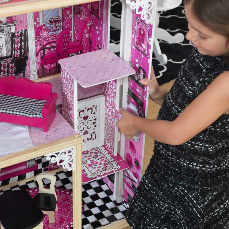 Дървена къща за кукли -Амелия от KidKraft- детски играчки за момичета -дървена играчка-bellamiestore