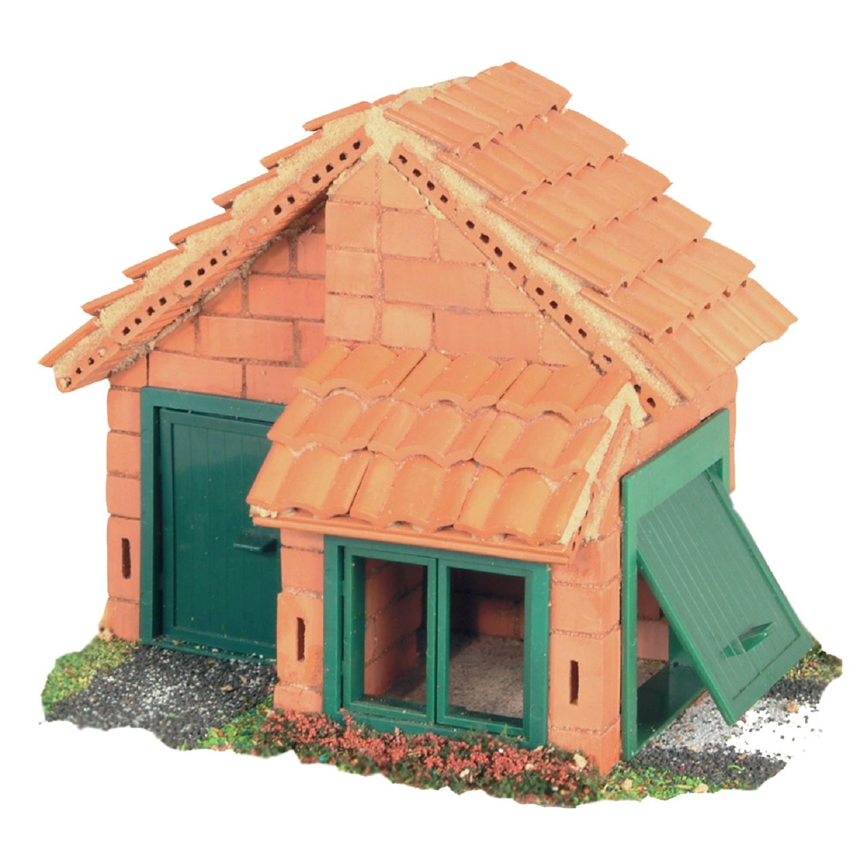 Строителен комплект с тухли- Къща с гараж- конструктори и творчески комплекти от Teifoc(1)-bellamiestore
