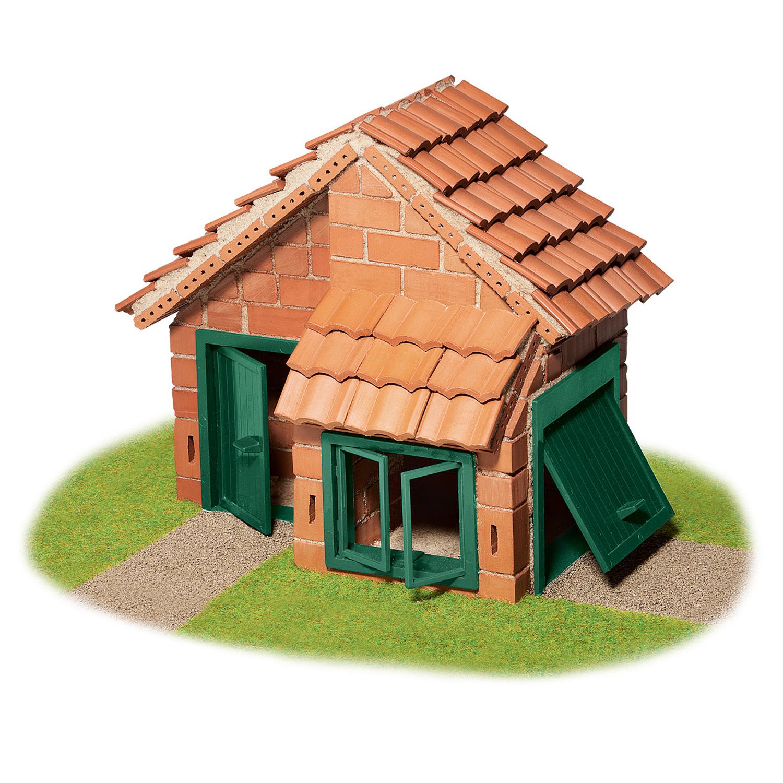 Строителен комплект с тухли- Къща с гараж- конструктори и творчески комплекти от Teifoc(2)-bellamiestore