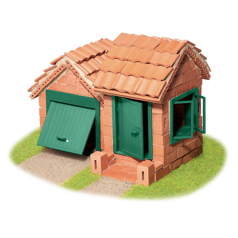 Строителен комплект с тухли- Къща с гараж- конструктори и творчески комплекти от Teifoc(3)-bellamiestore